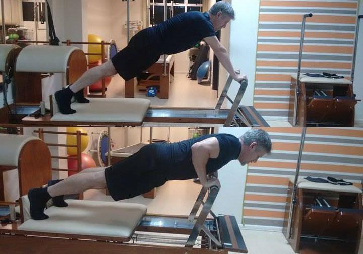 Long Stretches Up + Flexão de braço