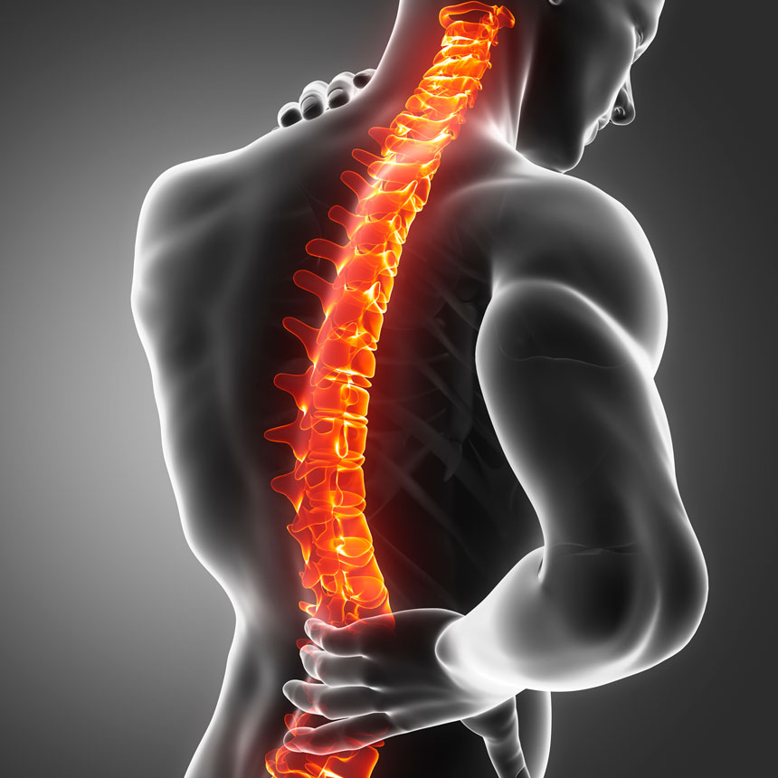 A rotação correta da coluna vertebral