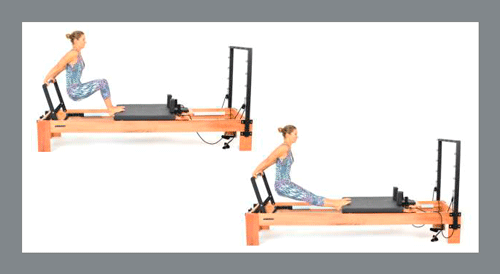 4)-Knee-Extension - Exercícios de Pilates no Reformer