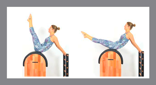 7)-Leg-Pull-Back-Barrel - Exercícios de Pilates no Barrel