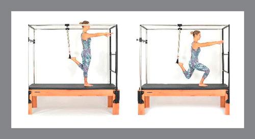 8)-Squating - Exercícios de Pilates no Cadillac