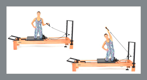 8)-Unilateral-Shoulder-Press-with-Inclination - Exercícios de Pilates no Reformer