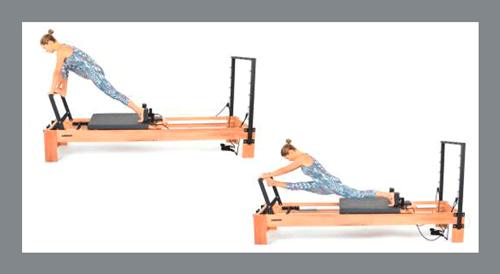 9)-Front-Splits - Exercícios de Pilates no Reformer