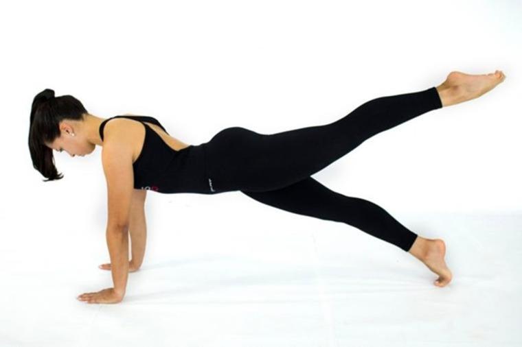 Pilates para corredores: Exercício Leg Pull Front