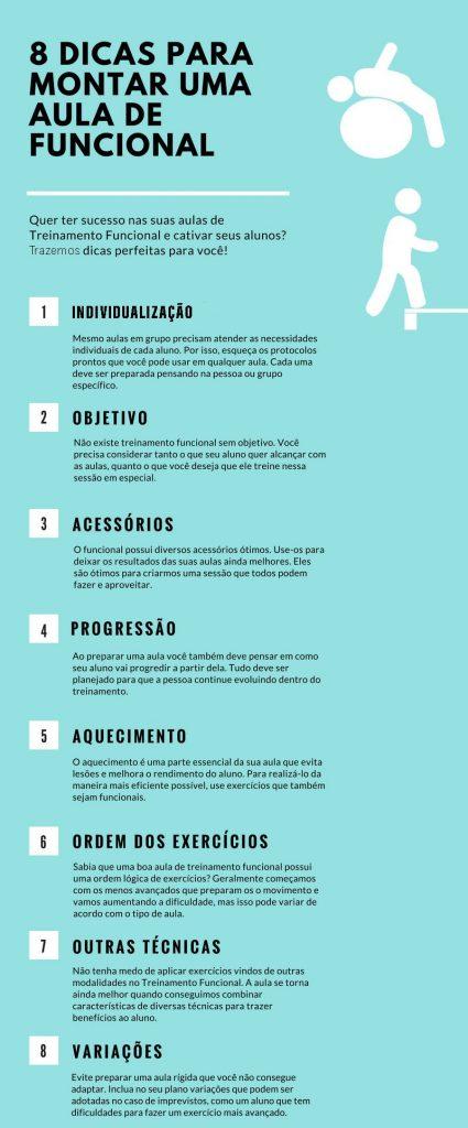 INFOGRÁFICO - 8 Dicas para montar aulas de Treinamento Funcional