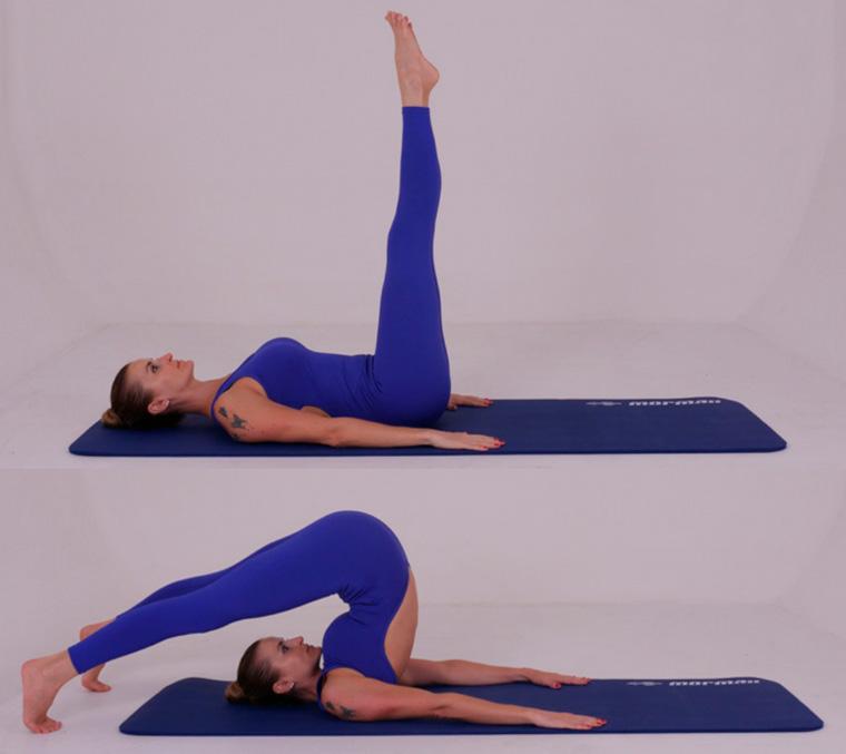 The Roll Over with Legs Spread - exercícios originais de Pilates