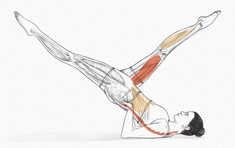 The Scissors - exercícios originais de Pilates