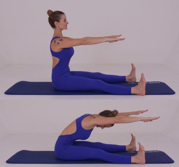 The Spine Stretch - exercícios originais de Pilates